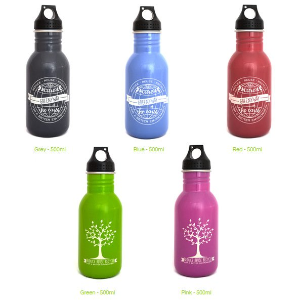 Borraccia Greenyway Color in acciaio inox 500 ml