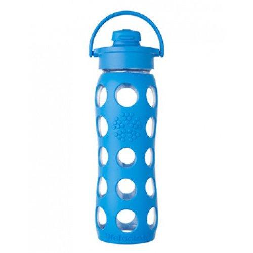 Lifefactory - Borraccia in vetro Flip Cap 650ml