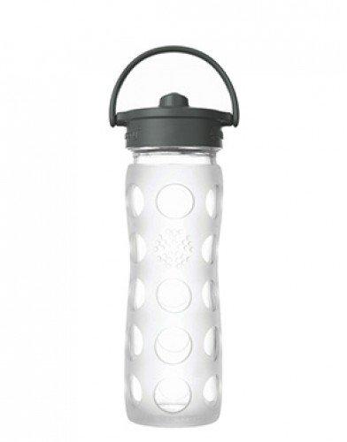 Lifefactory - Borraccia in vetro Straw Cap con cannuccia 475ml