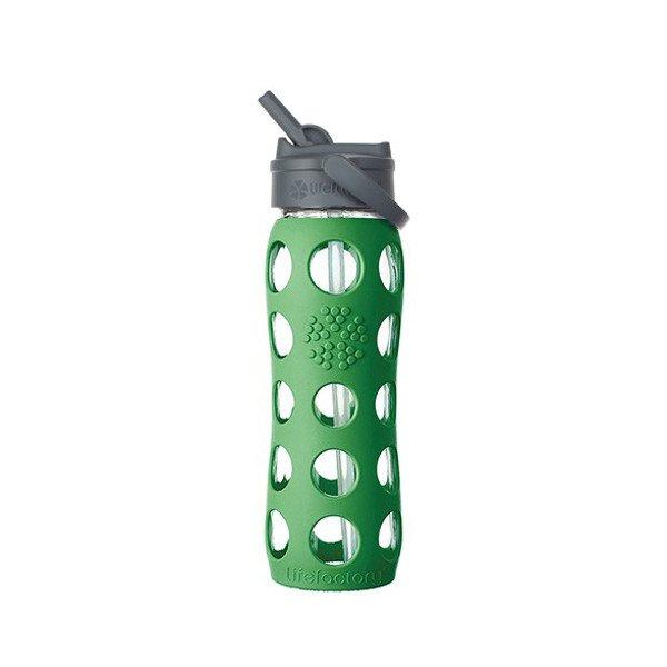 Lifefactory - Borraccia in vetro Straw Cap con cannuccia 650ml