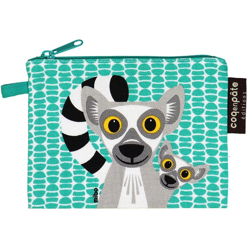 Borsellino portamonete Lemuri in cotone biologico