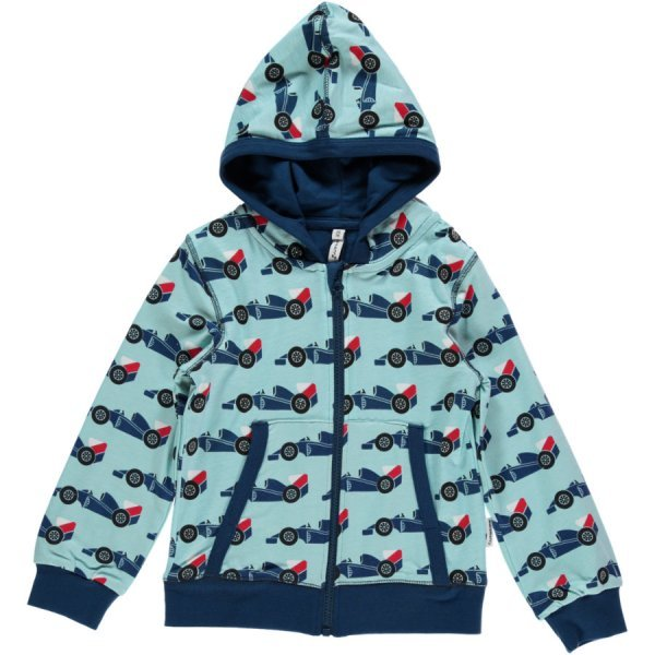 Hoodie Race Cars in organic cotton