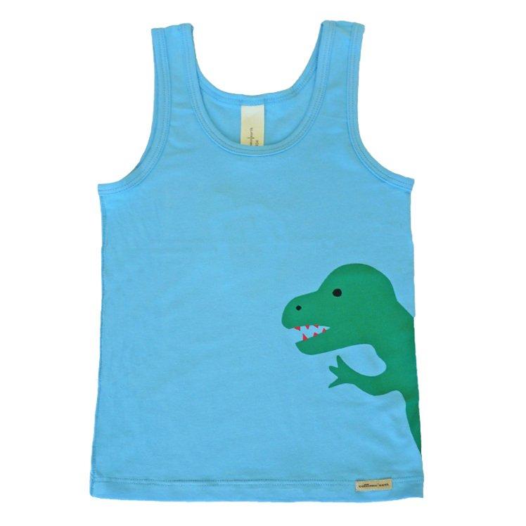 Vest for boys Dino in organic cotton.