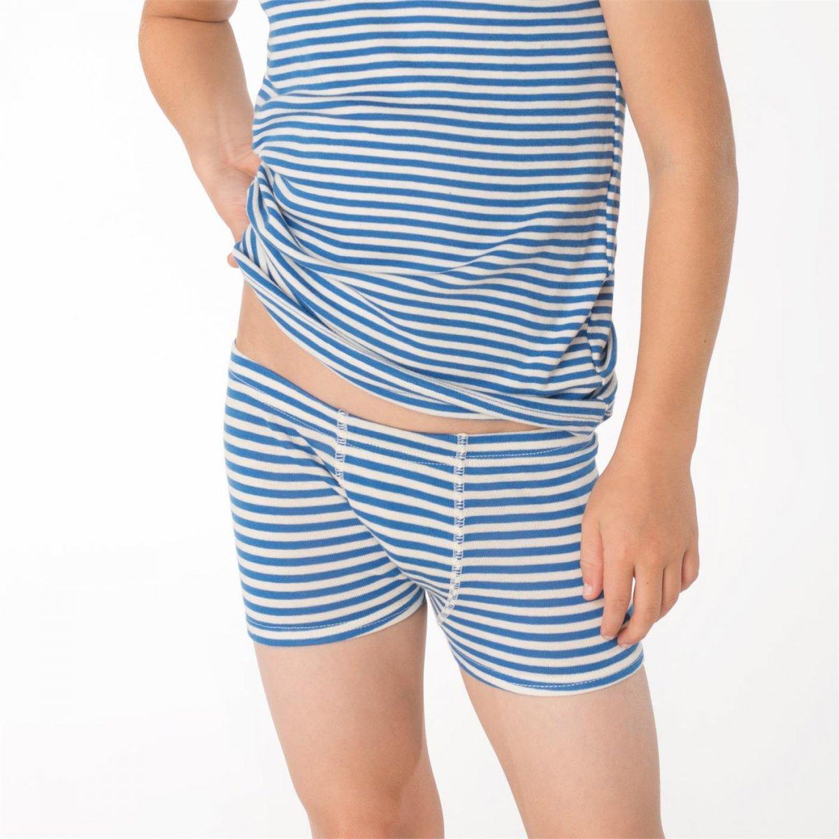 Boys shorts striped in organic cotton