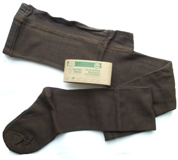 Brown Tights for woman in organic cotton