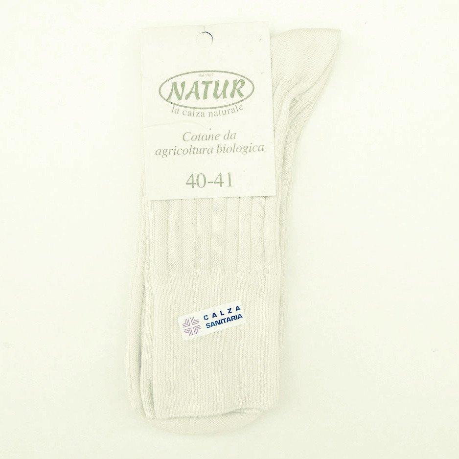 Calza corta Sanitaria in cotone bio naturale
