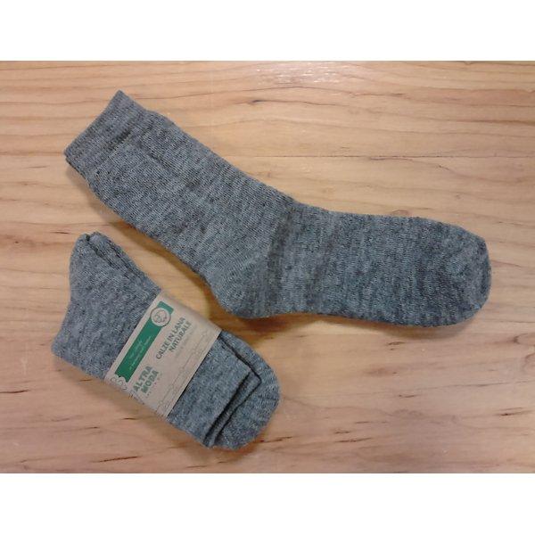 Calza corta in spugna di lana naturale