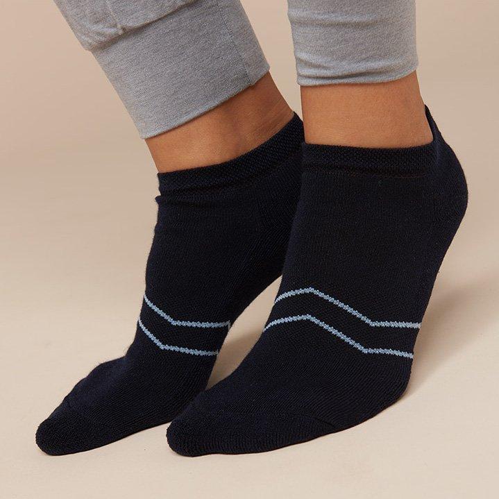 Calza Sneaker Sport blu in Spugna di Eucalipto-Tencel