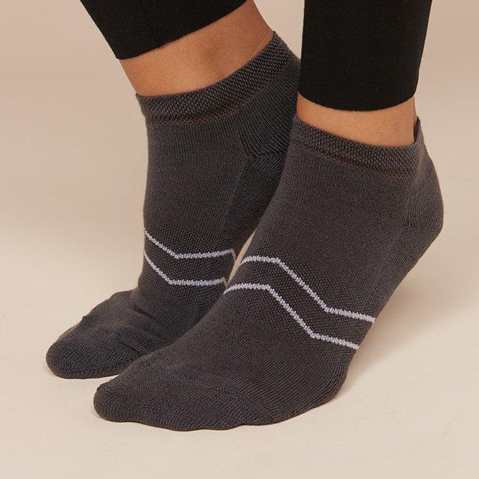 Calza Sneaker Sport grigio in Spugna di Eucalipto-Tencel