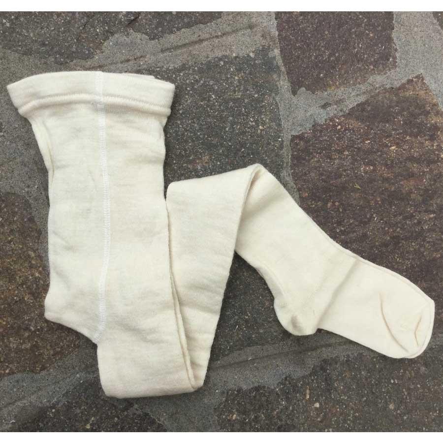 Calzamaglia Bianca in lana naturale