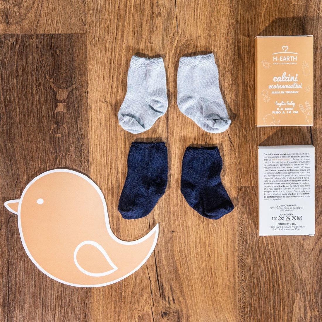 Calze Baby Boy in Fibra di Eucalipto pacco da 3