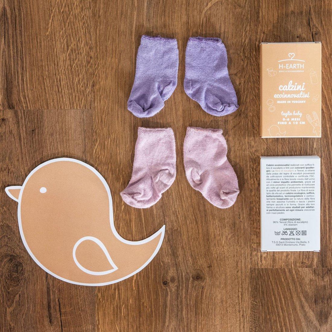 Calze Baby Girl in Fibra di Eucalipto pacco da 3