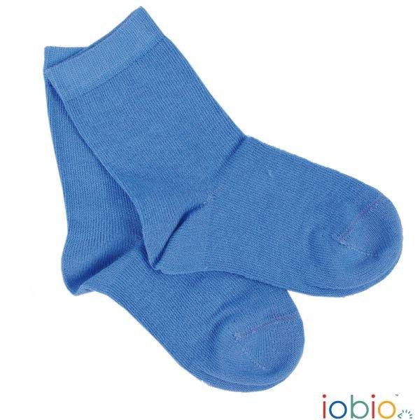 Calze Popolini azzurre in cotone biologico
