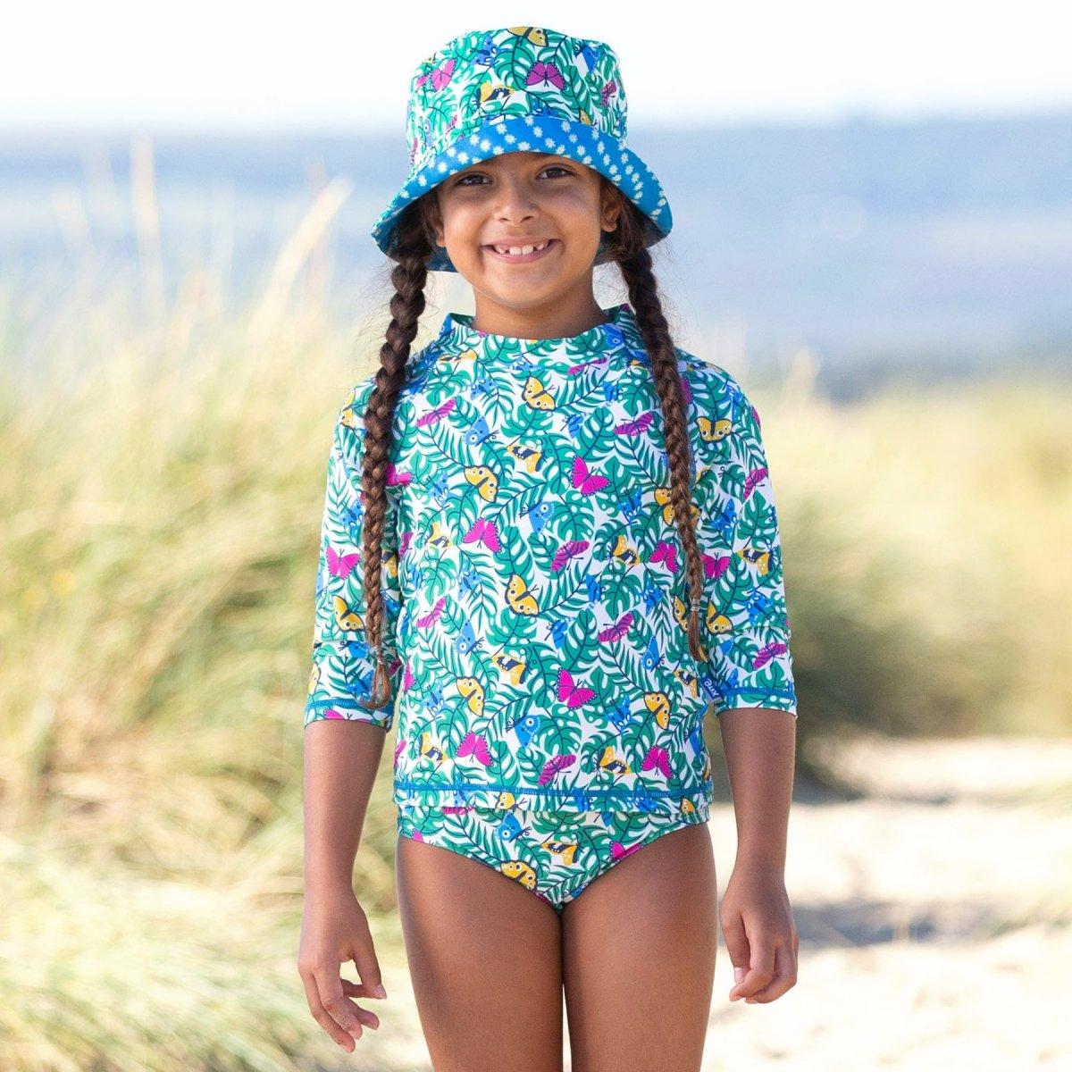 Maglietta Sole&Nuoto Flutterby con protezione UV UPF50+