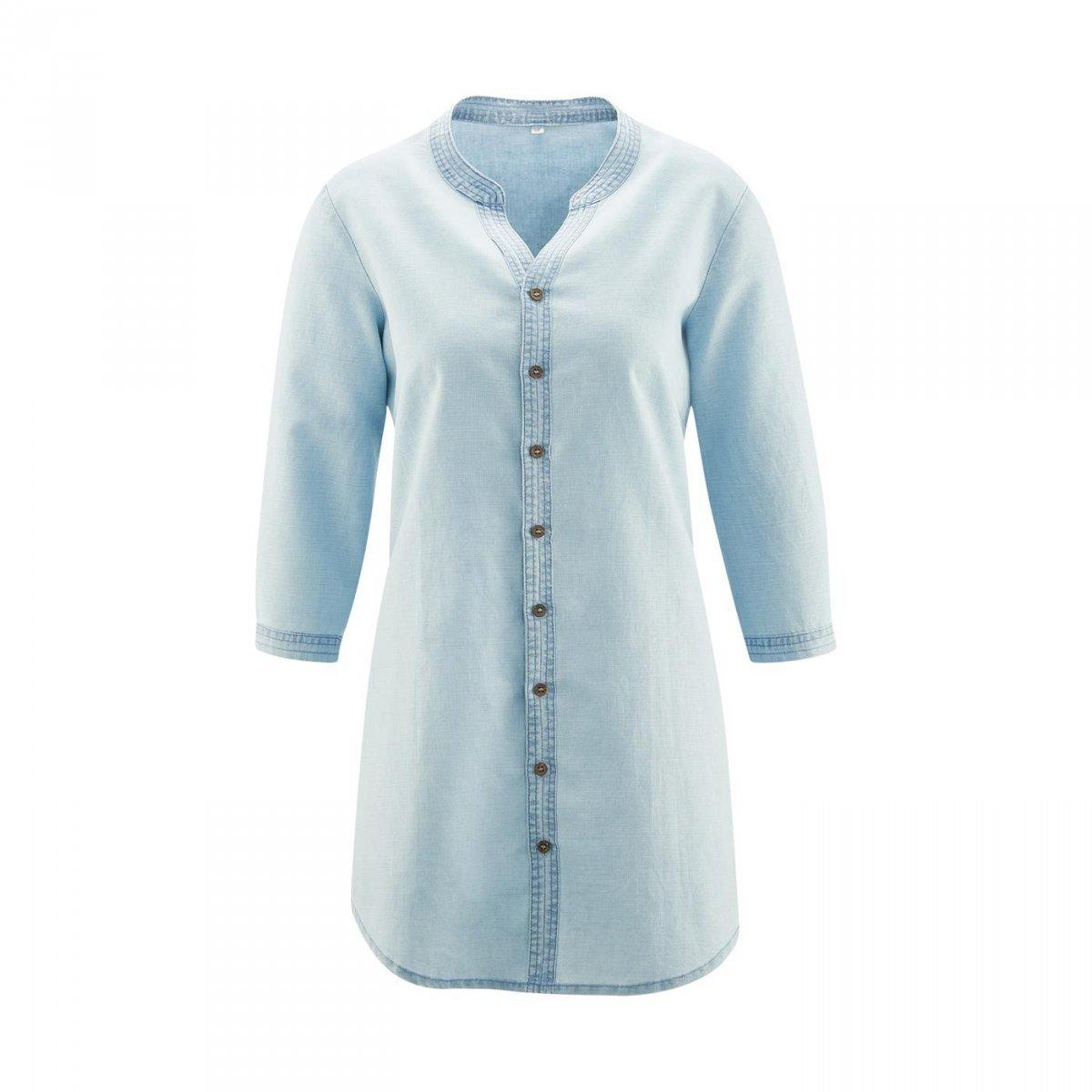 Camicia lunga Alice in lino e cotone biologico