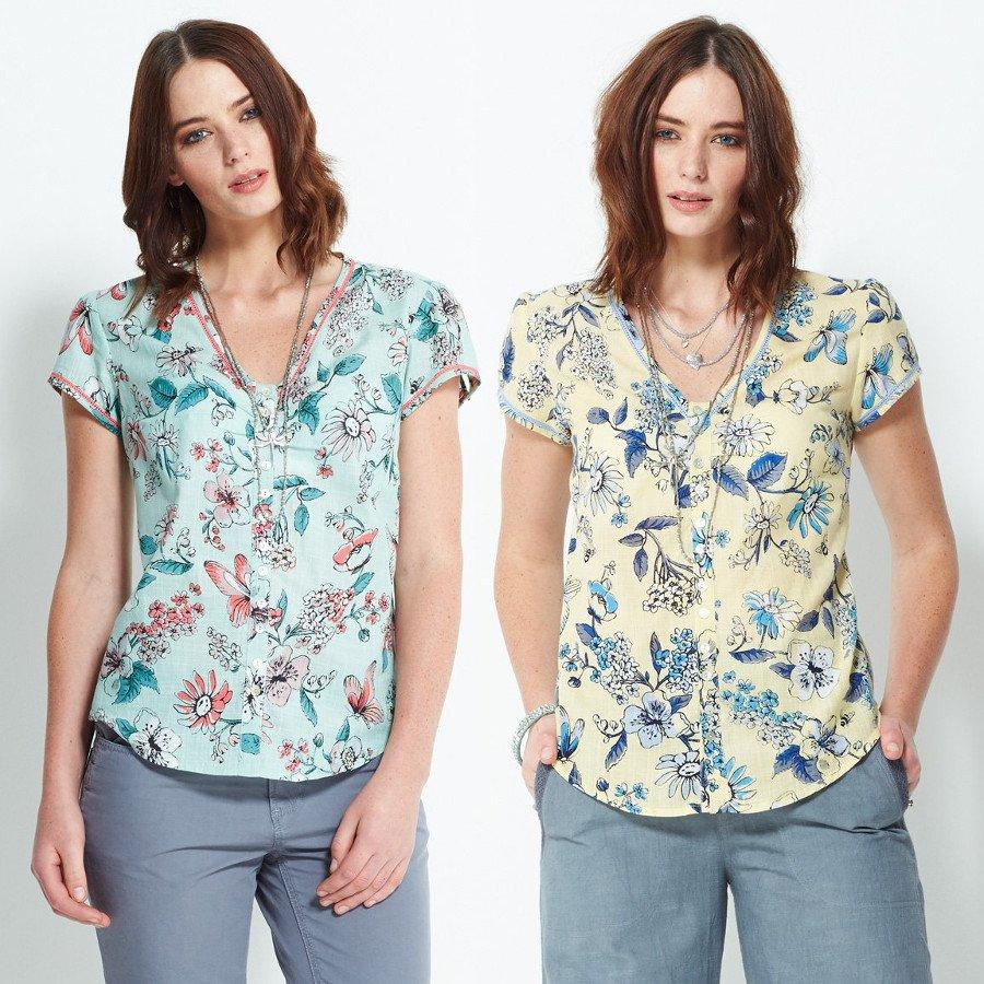 Camicia Flora in cotone