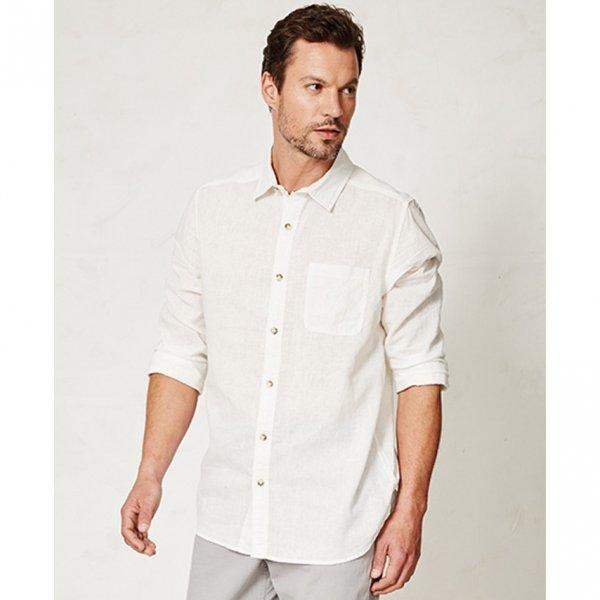 Camicia Olaf uomo bianca in canapa