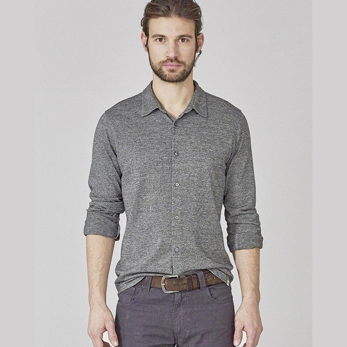Camicia uomo in jersey di in canapa e cotone biologico
