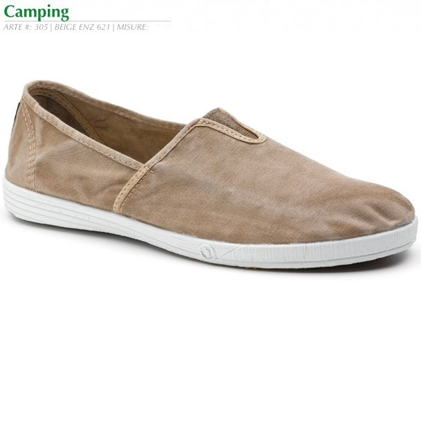 Camping summer shoes for woman in organic cotton canvas