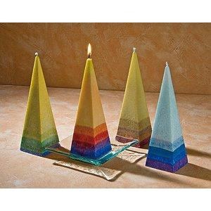 Candele piramidali in stearina vegetale