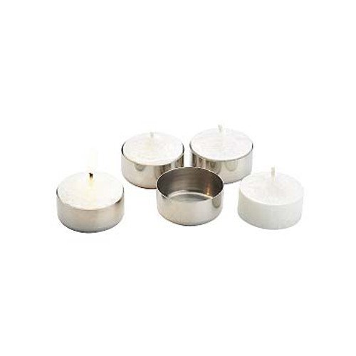 Candle holder in stainless steel