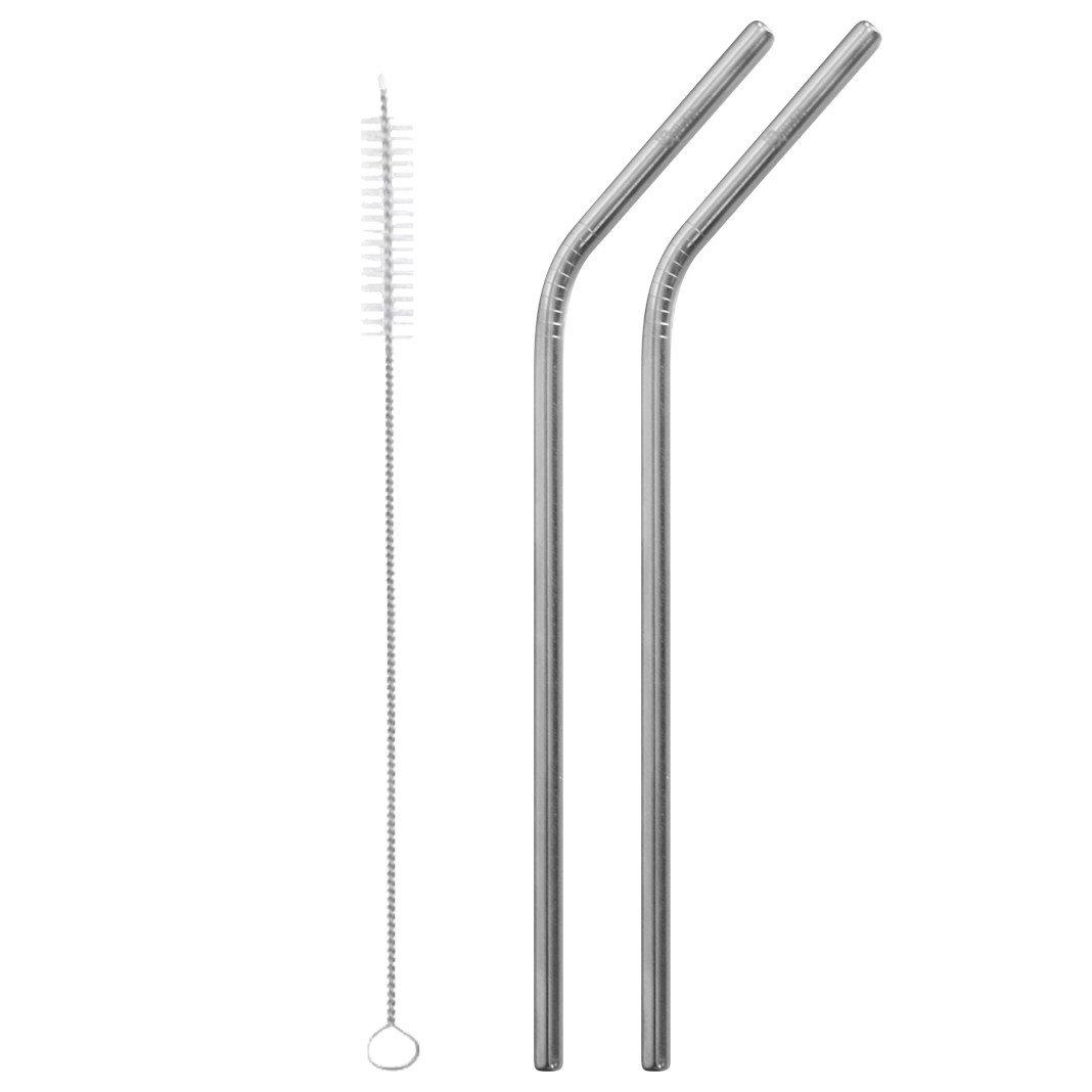 Cannucce curve in acciaio set 2 pz