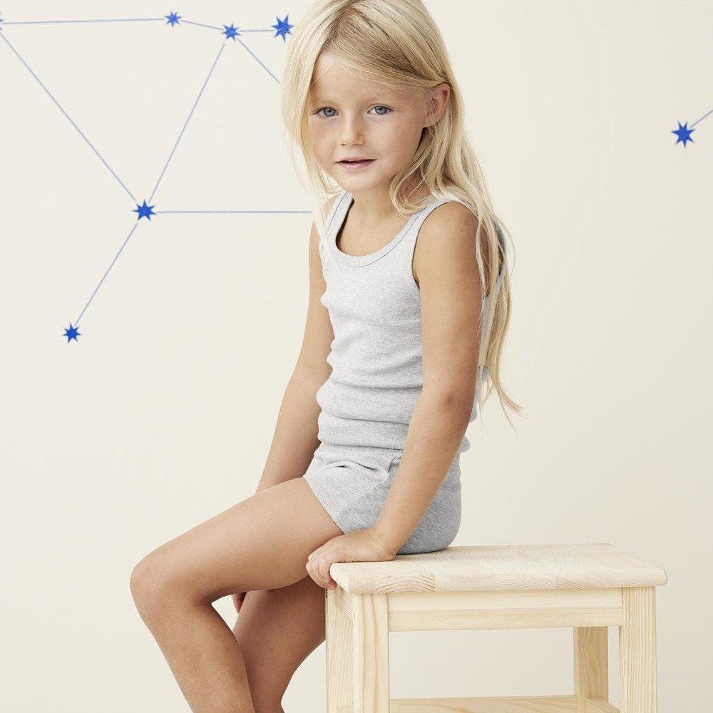 Canottiera bambini Melange in 100% cotone biologico