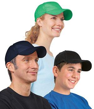 Cappellino da baseball colorato in cotone biologico