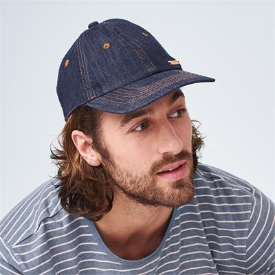 Cappellino da baseball Jeans in cotone biologico