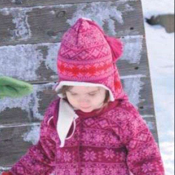 Cappello fiocchi di neve in lana e cotone bio
