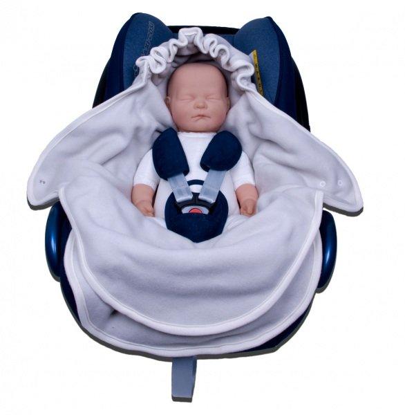 Car seat pouch organic cotton fleece