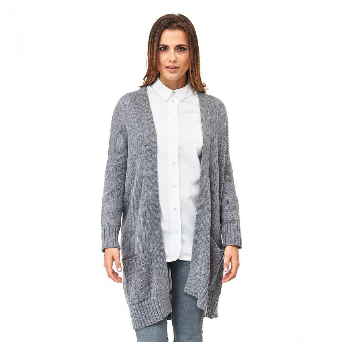 4a94fe755f69 Cardigan lungo donna in lana merino biologica - Living Crafts