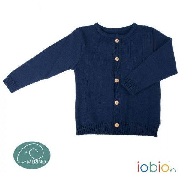 Cardigan Popolini in pura lana biologica