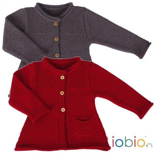 Cardigan Edda per bambina in pura lana merino