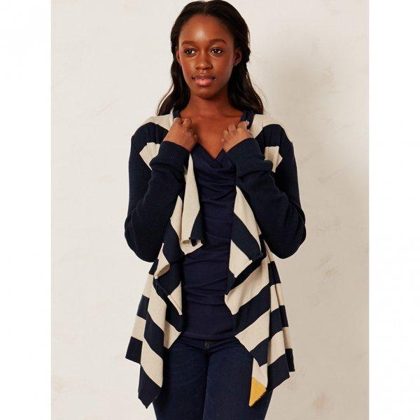Stripe cardigan Abarema in organic cotton