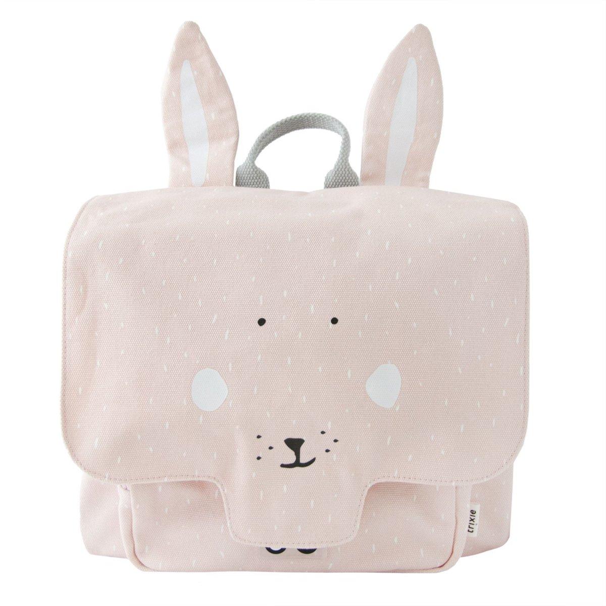 Cartella Asilo Signora Coniglio per bambini in robusta tela di cotone