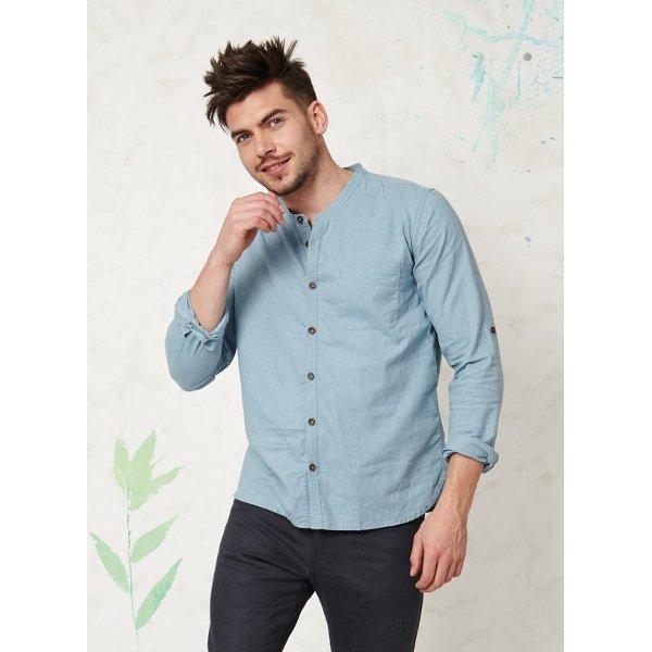 Casual long sleeve shirt in hemp
