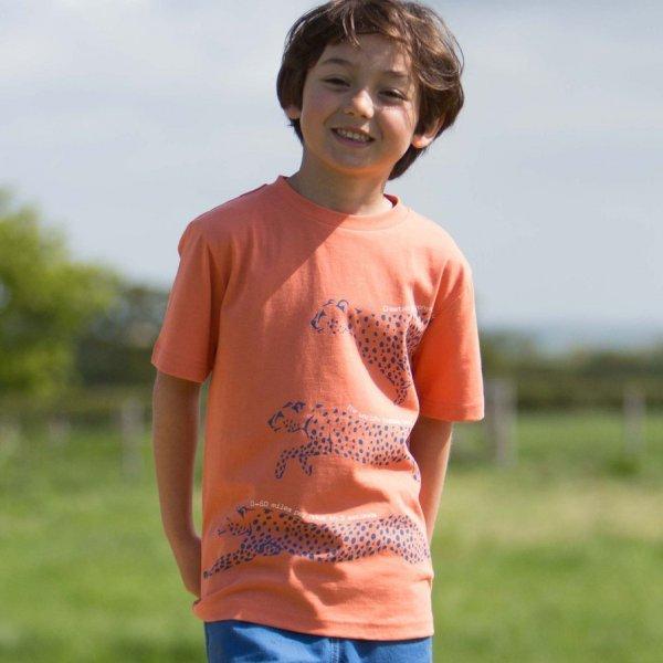 Cheetah t-shirt in organic cotton