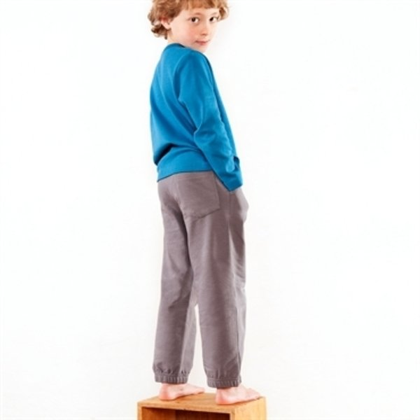 Child gray jogging pants in organic cotton