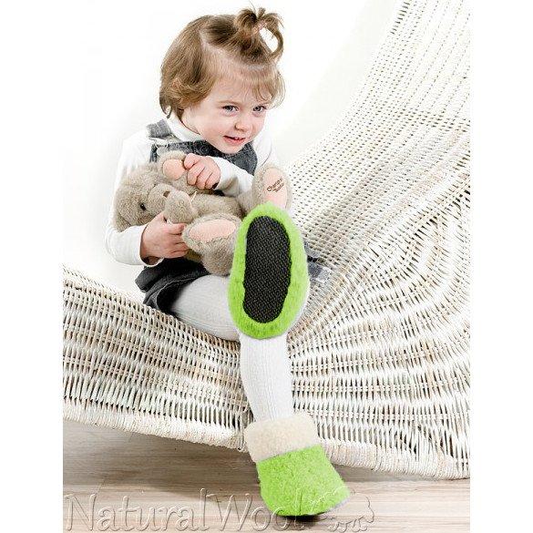 Children home booties in merinos wool