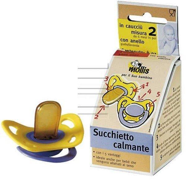 Ciuccio Mollis con anello 2 pezzi