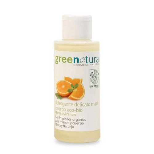 Cleansing gel hands/body with organic Mint and Orange - 100ml