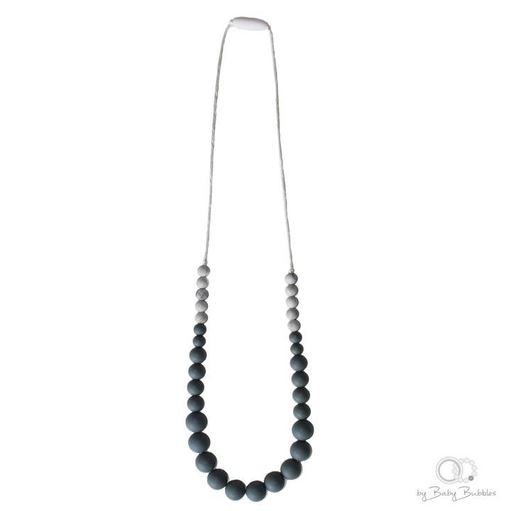 Collana per dentizione in silicone Simple Grey