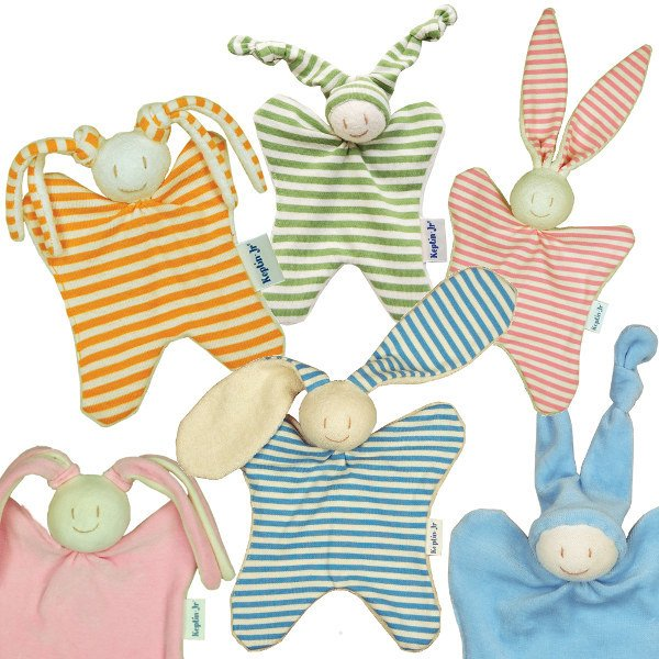 Comforter soft toy in organic cotton
