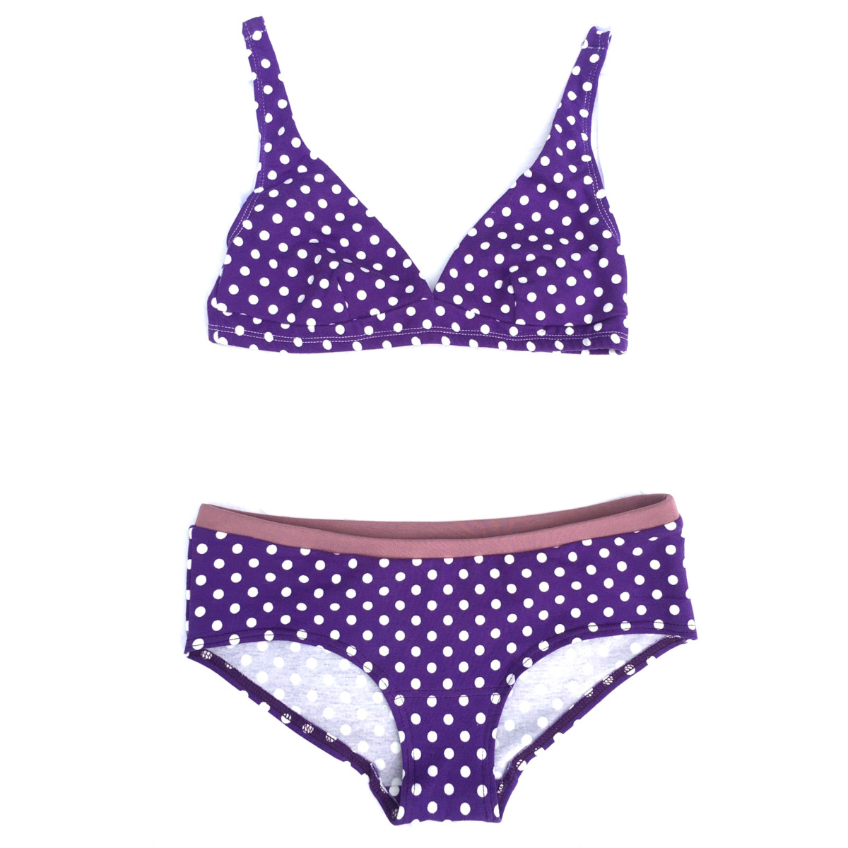 Completo Colorio Organics Purple Dots in cotone biologico Limited Edition