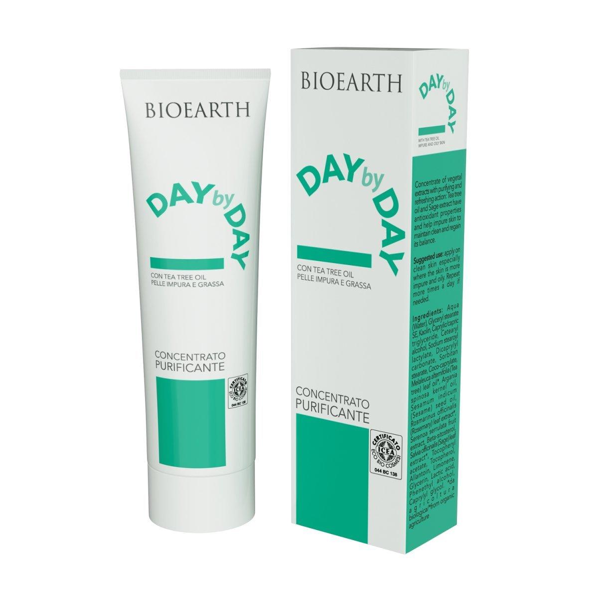 Crema Concentrata purificante viso pelle grassa e impura Bioearth DaybyDay