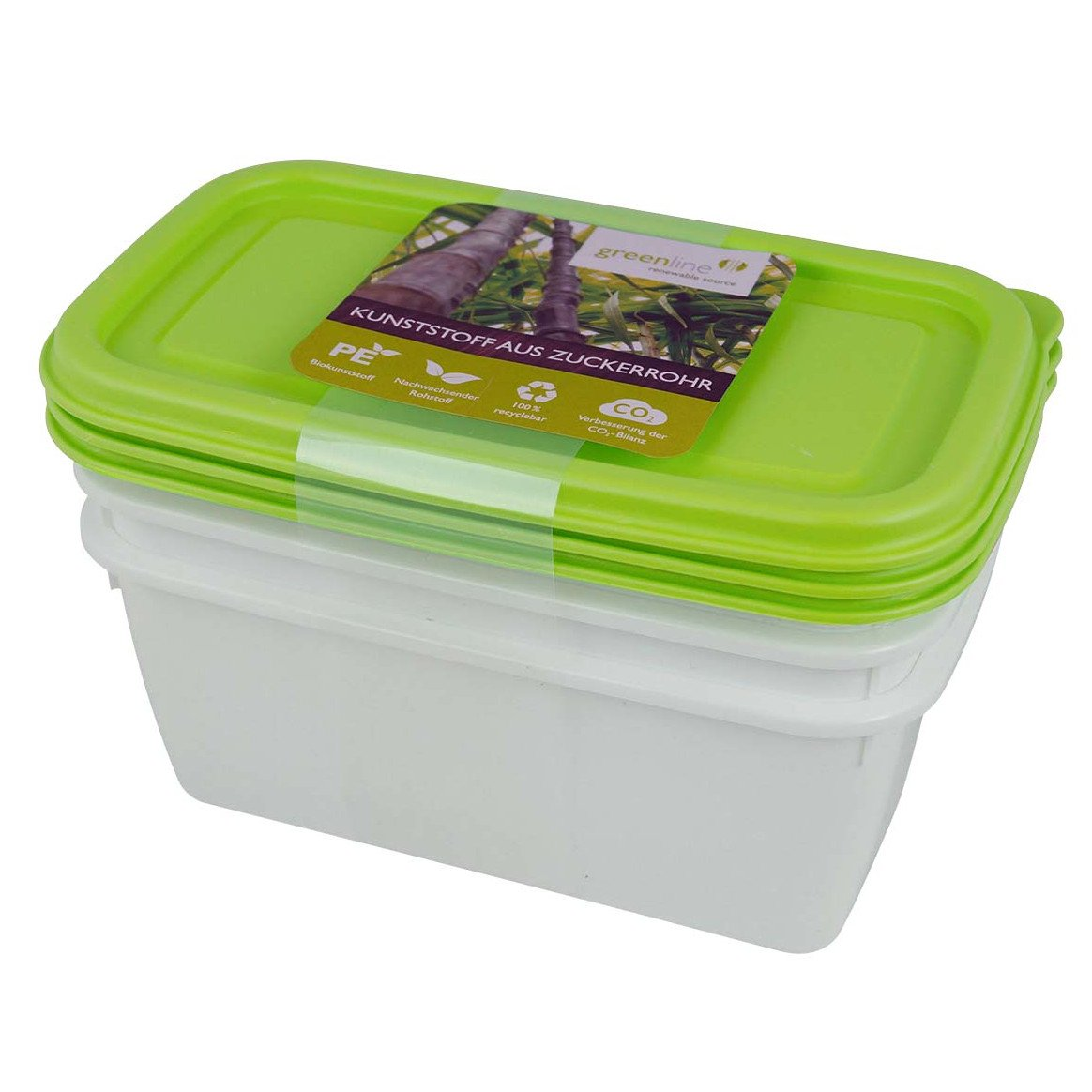 Contenitori alimenti set 3 pz 750 ml Gies Greenline