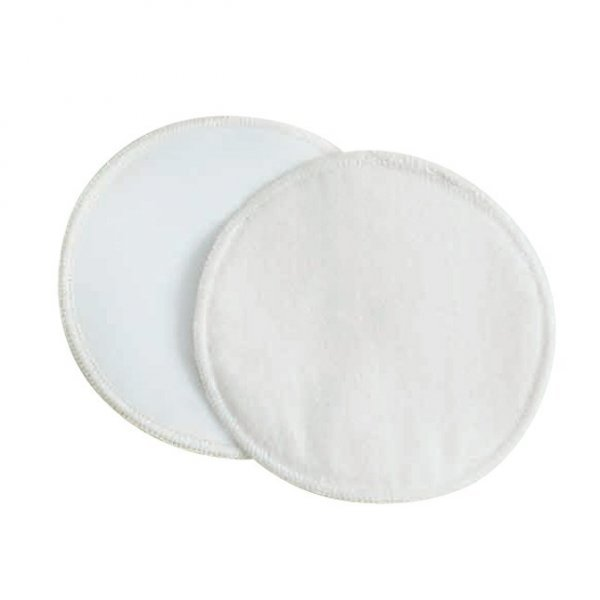 Coppette assorbilatte lavabili cotone bio - Ø11 cm