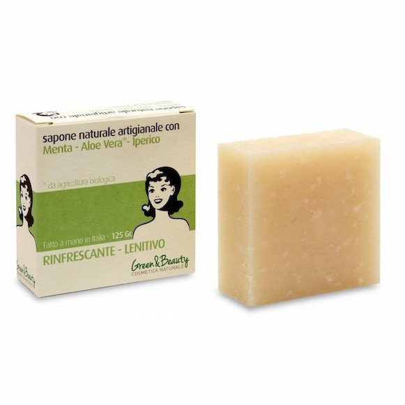 Cosmetic soap refreshing and soothing