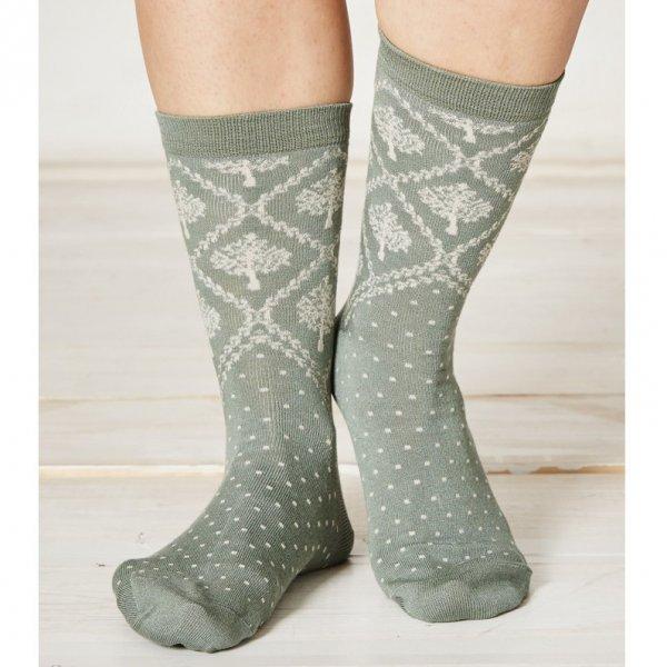 Crabapple Socks in bamboo
